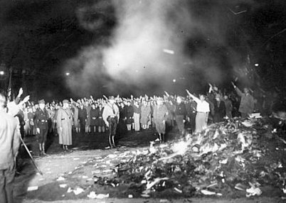 National Socialist Bonfire Event. These Bonfires were symbolic of the type of literature that was considered socially harmful, such as pornography and communist propaganda.