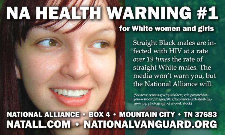 Having sex with non-Whites puts you at risk!